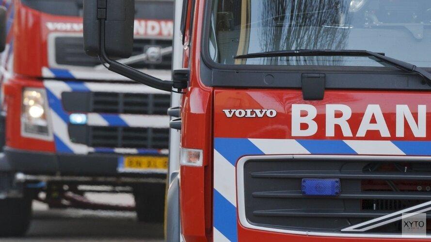 Brand in aanbouw van rijtjeshuis in Krommenie(video)