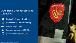 Auto's door brand verwoest in Zaandam