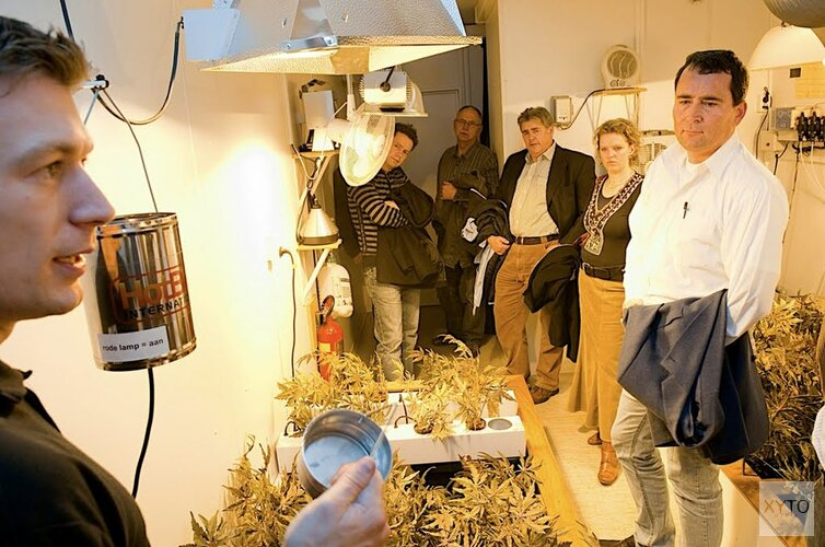 Burgemeester opent hennepplantage