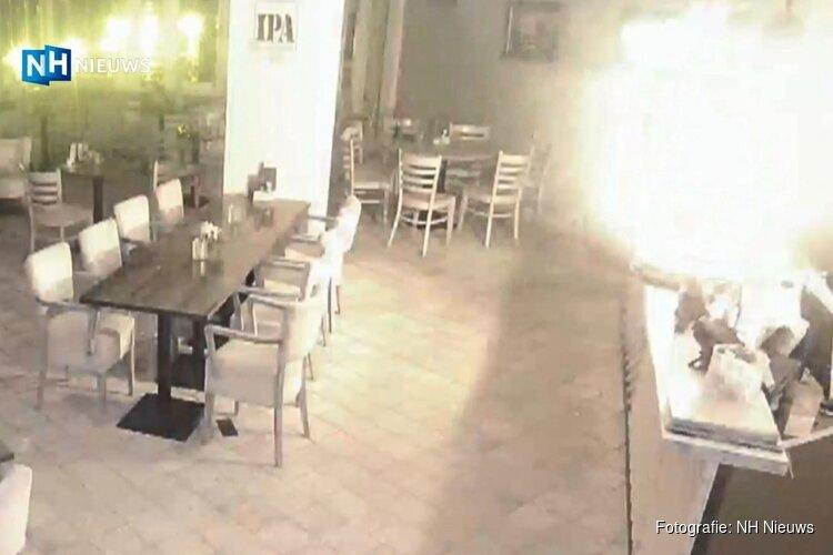 Explosie in hotel Zaandijk te zien op haarscherpe beveiligingsbeelden