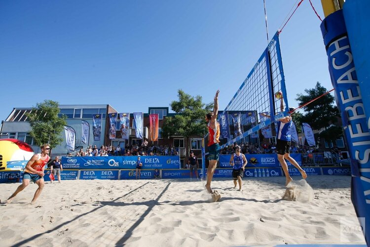 Eredivisie Beachvolleybal op de Rozengracht met internationale topteams