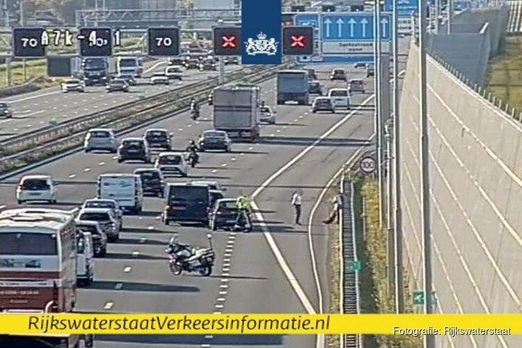 Verkeersinfarct rond Zaandam door ongeluk op A7: meerdere rijbanen afgesloten