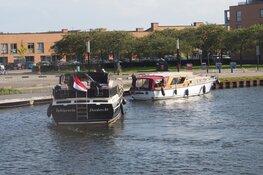 Brand op boot in Zaandam
