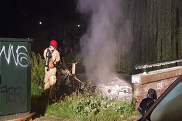 Boot in brand in Zaandijk