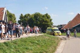 Hulpdiensten op Zaanse Schans na valpartij