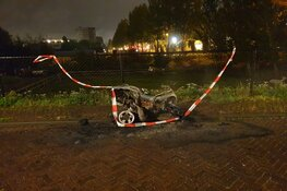 Scooter in brand in Zaandam