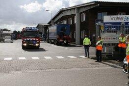 Brand bij bedrijf Zaandam
