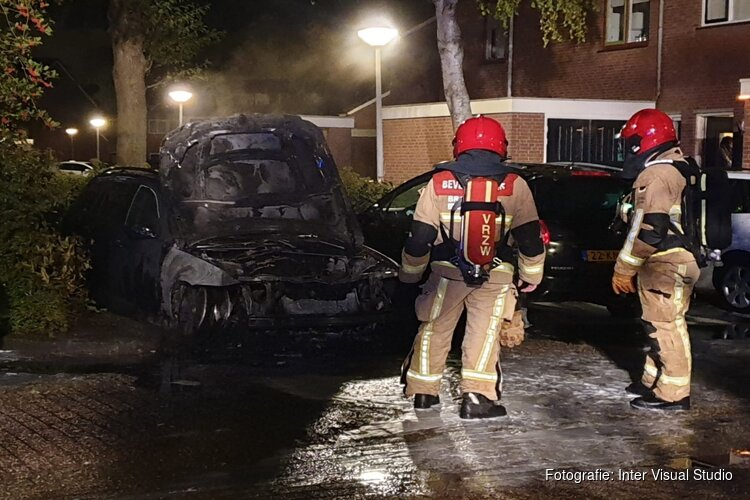 Auto in brand in Assendelft