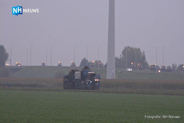 Trekkers blokkeren A7 richting Zaandam en zorgen voor lange file