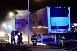 Vrachtwagen dreigt in brand te vliegen