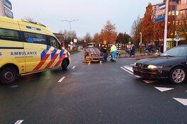 Auto op de kop na ongeval Zaandam