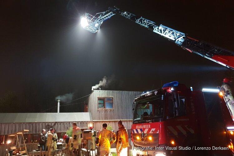 Schade op woonboot door brand