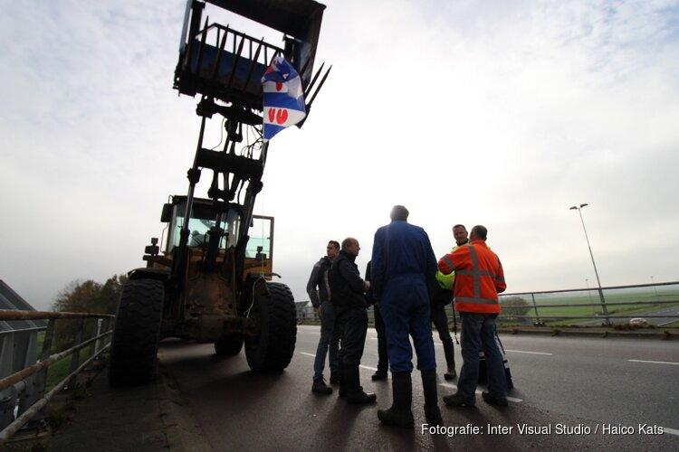 Boerenprotest ook boven de A7