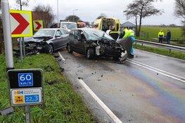 levensgevaarlijk: ongeval door veel olie op de weg