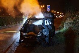 Auto in brand in Zaandam