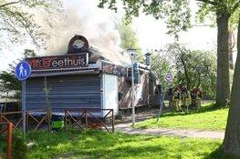 Forse schade bij brand grillroom