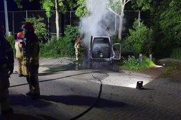 Voertuigbrand in Westknollendam