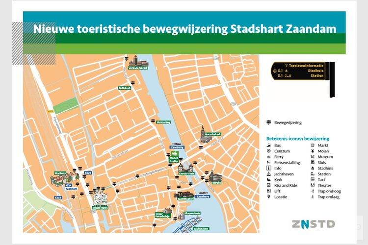 Nieuwe toeristische bewegwijzering in stadshart