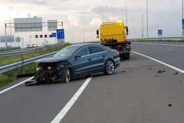 Botsing op A7: automobilist vlucht
