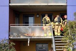 Brand op balkon in Assendelft