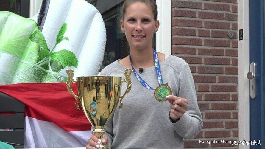 Zaanse Sportpenning voor wereldkampioen Zoetwatervissen Anja Groot