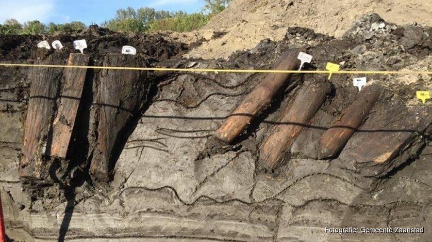 """Archeologen vinden resten van wachttoren in Krommenie: """"Vrijwel zeker van Romeinen"""""""
