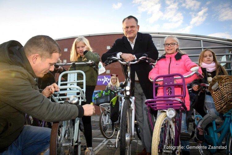 Fix your bike actie op basisschool in Koog aan de Zaan